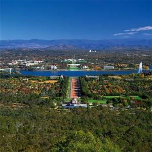 De hoofdstad van Australie vanaf het prachtig uitzichtspunt