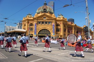 Het station in Melbourne