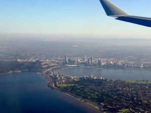 Perth vanuit de lucht
