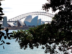 De Harbour Bridge in Sydney